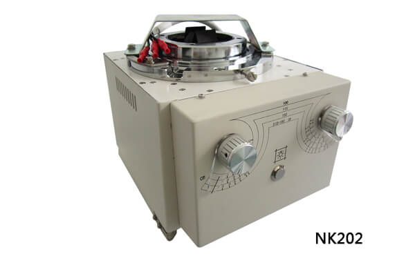 What is the difference in shape between the x ray collimator NK103 and NK202
