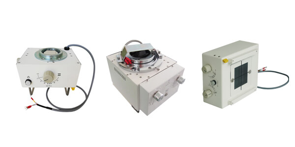 What are the characteristics of the light source structure of the x ray collimator