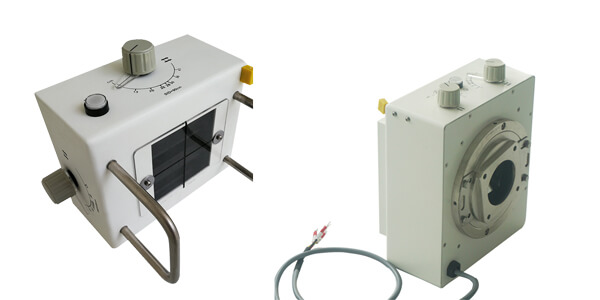 What types of x ray collimator are used in portable X-ray machines